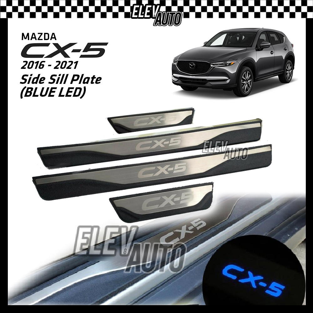 Mazda CX-5 CX5 2012-2021 LED Door Side Sill Step Plate (Stainless Steel)
