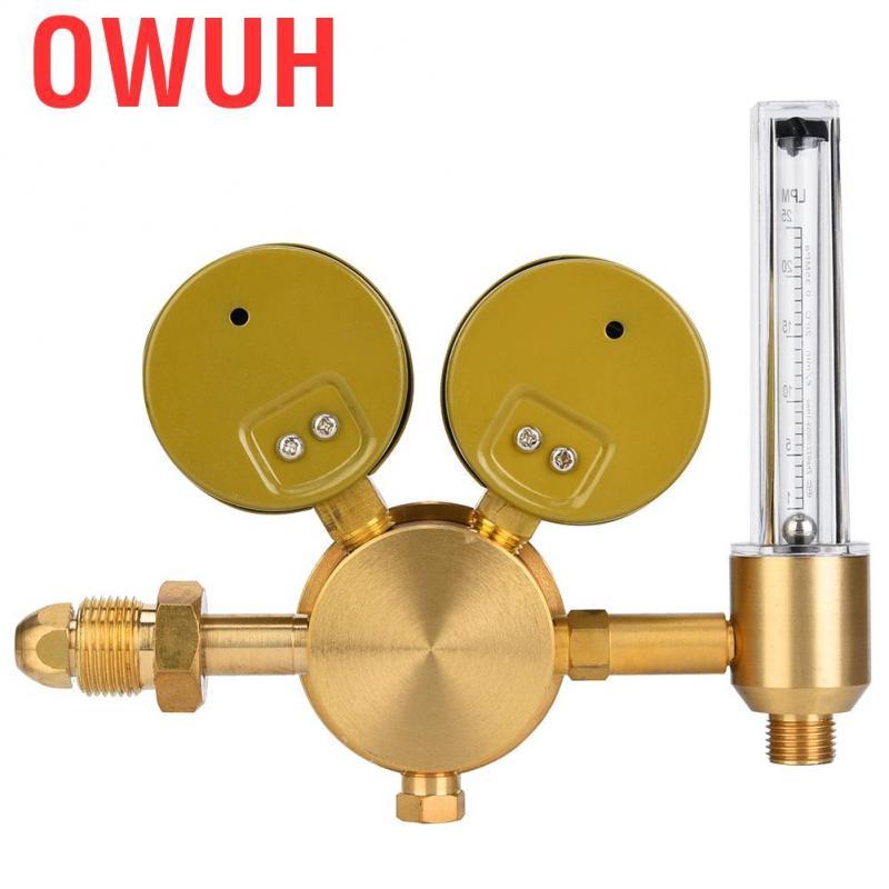 Gas Pressure,Copper Gas Regulator Gas Pressure Reducer for Nitrogen Carbon Dioxide G5//8 CGA580 wx-566-5//8