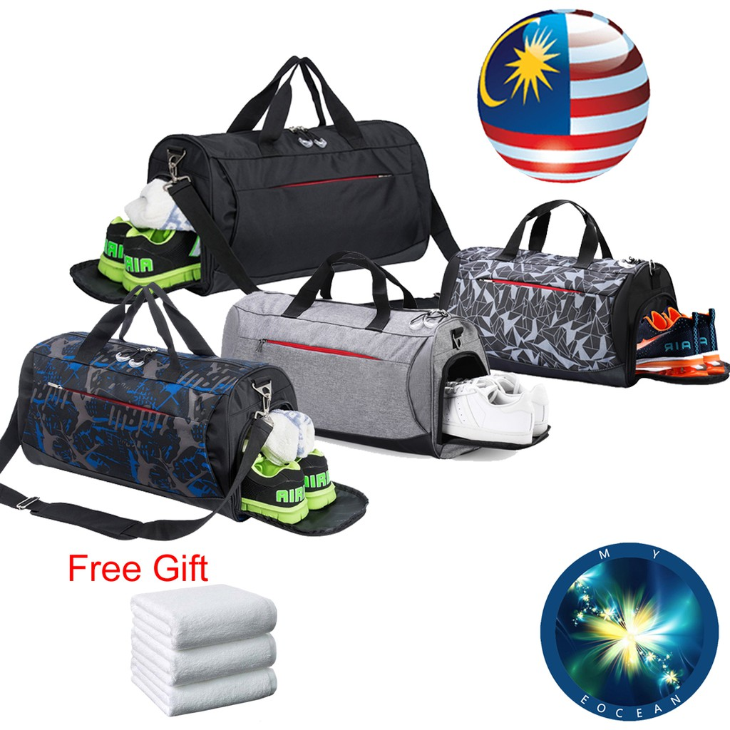 Gym Vacation Travel Duffel Bag Unicorn Head And Striped Waterproof Lightweight Luggage bag for Sports