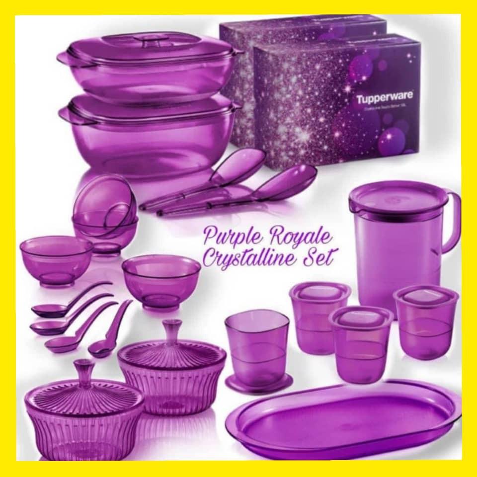 Tupperware Purple Royal Crystalline Set