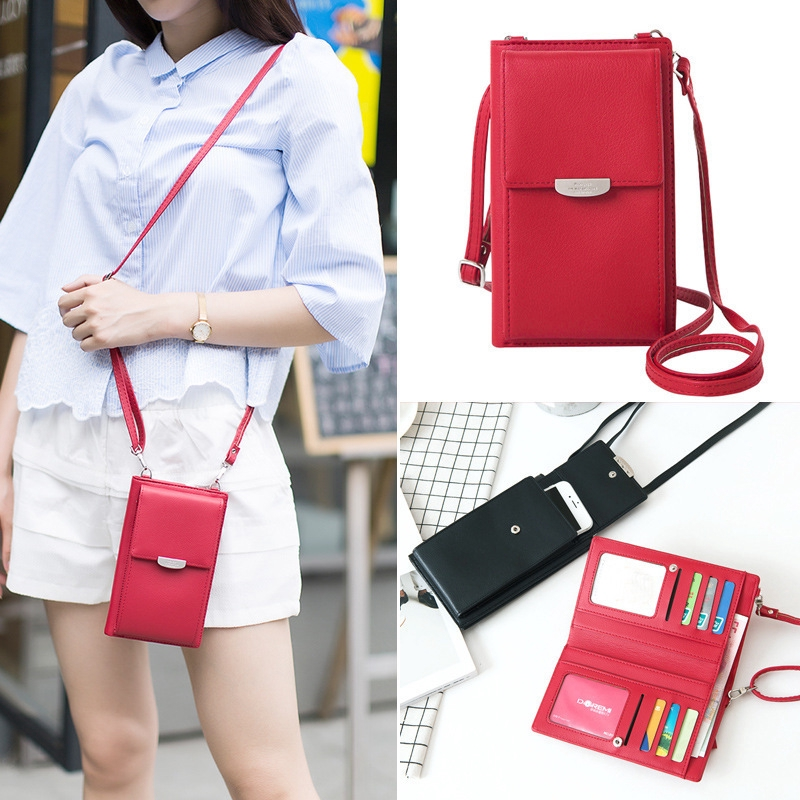 Korea Women's mobile phone bag long Purses wallet