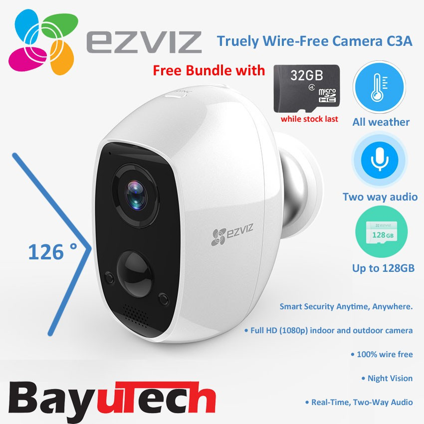 EZVIZ by Hikvision C3A 1080P - Battery Wi-Fi - Wire-free Security Camera -  PIR