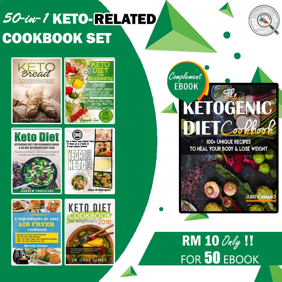 {eBook Combo} Bundle of 56 Cookbooks - Ketogenic Keto Diet Recipe by Various Author [ EPUB || PDF ]