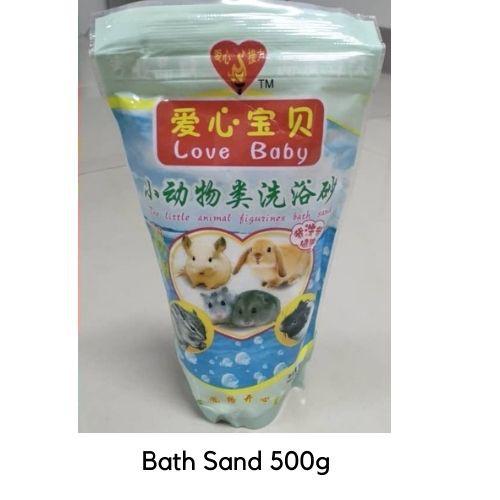 S3 LOVE BABY The Little Animal Figurines Natural Refreshing Bath Sand  Pasir Mandian Kering Peliharaan Si Comel 500grams