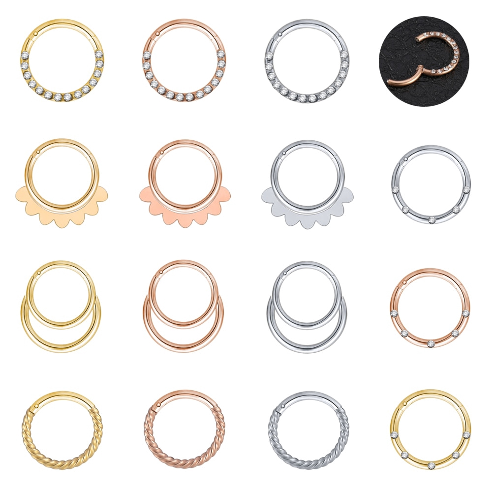 1pc Stainless Steel Nose Rings Stud Septum Tragus Cartilage Daith