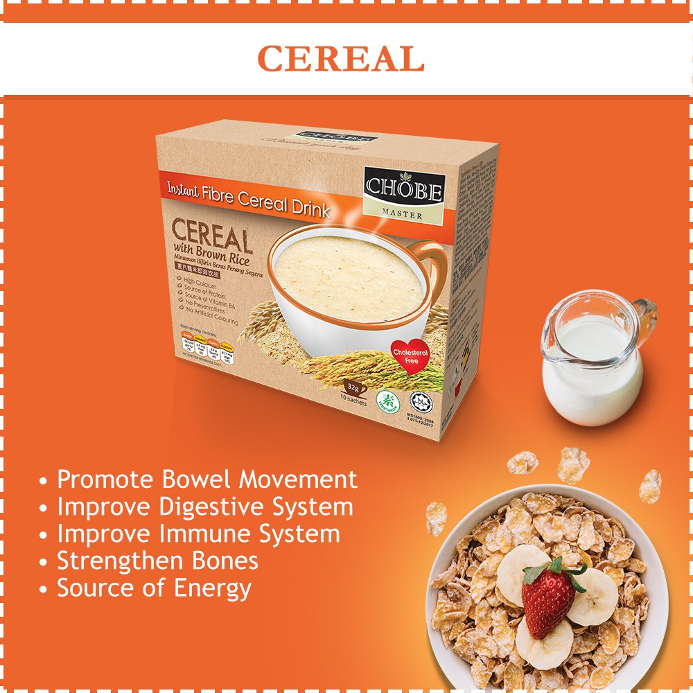 【Cereal x3】NEW Chobe Master® Brown Rice Drink