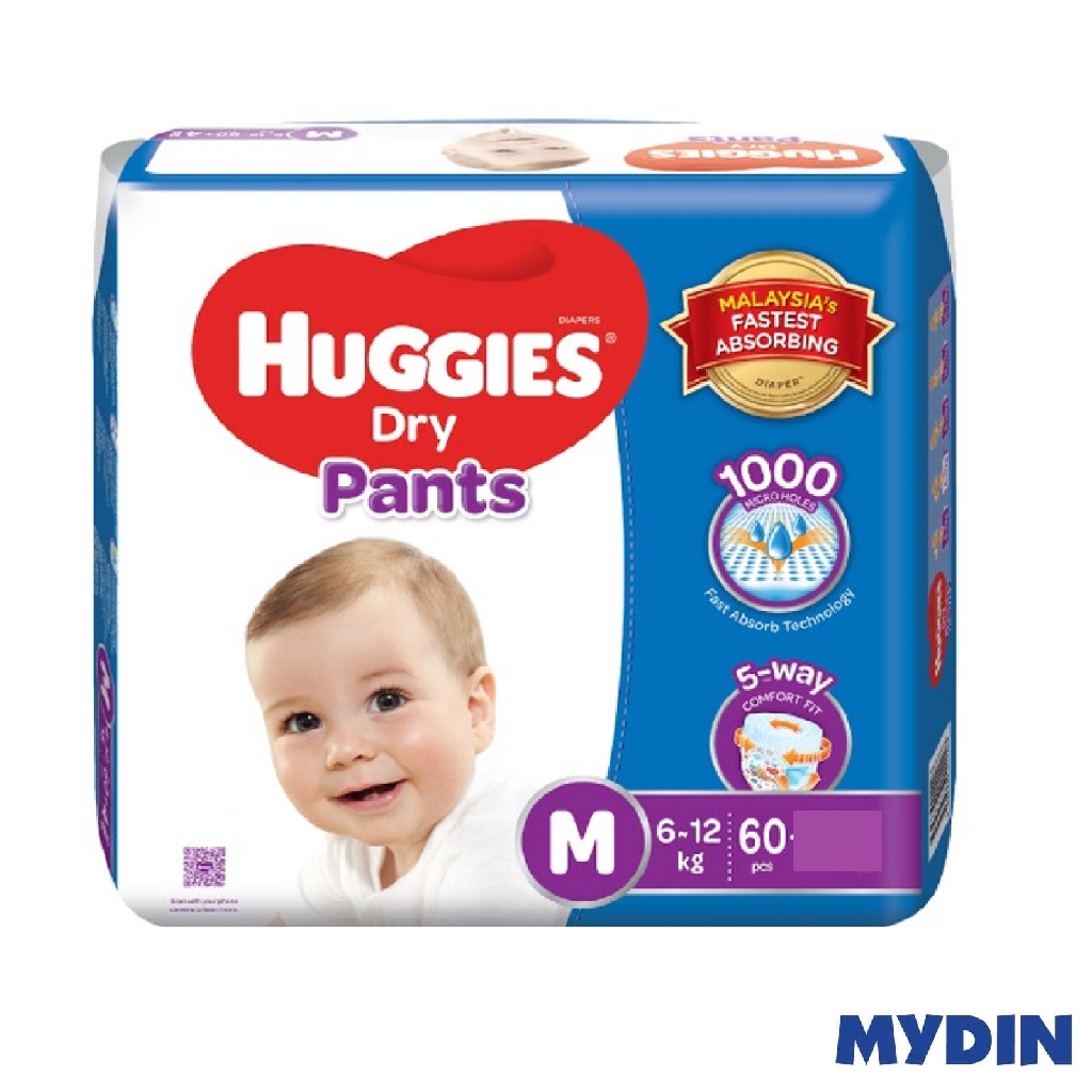 Huggies Dry Pants M60