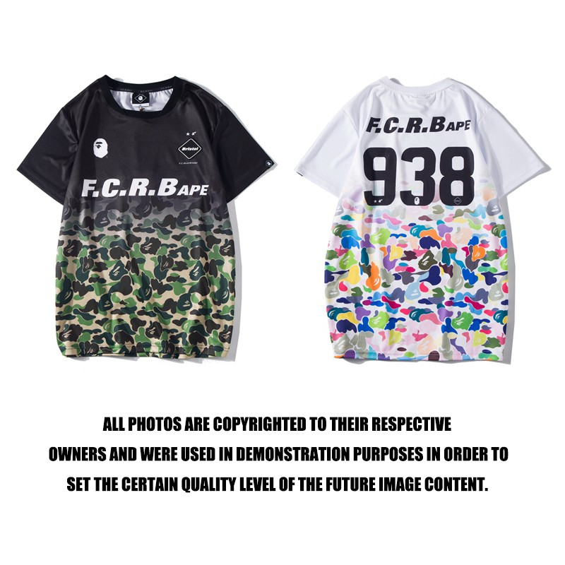 New Men/'s Bape Colorful Camo NO.9 38 A Bathing Ape Tee Shirt round neck Tops
