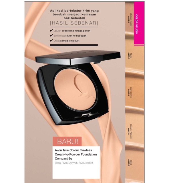 Avon True Colour Flawless Cream-to-Powder Foundation Compact 9g
