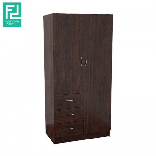 Furniture Direct BR5148 2.8 feet wardrobe with 3 inner shelves