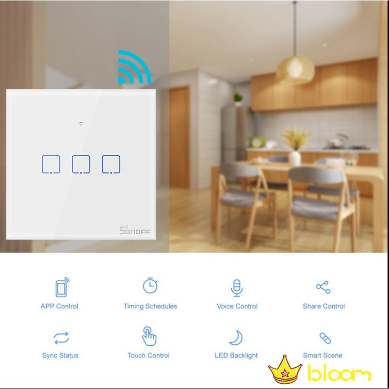 SONOFF The WiFi smart switches with 3 gangs are divided into T1 UK Plug
