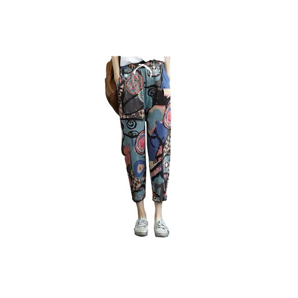 กางเกงผ้าฝ้ายลายวินเทจ ราคาประหยัด ส่งจากไทยงานฟรีไซส์