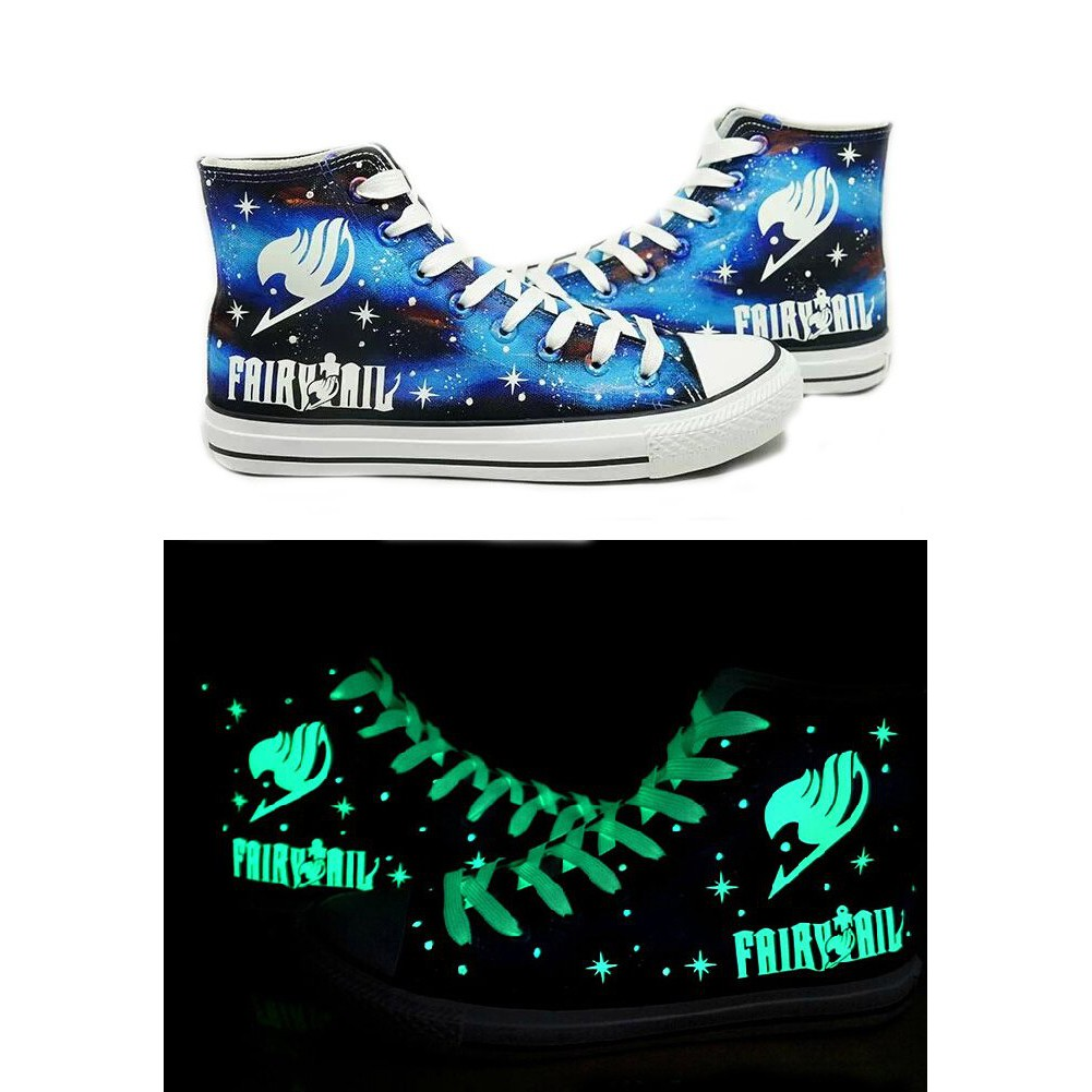 Cartoon Anime FAIRY TAIL Luminous High-Top Canvas Shoes unisex Outdoor Sneakers