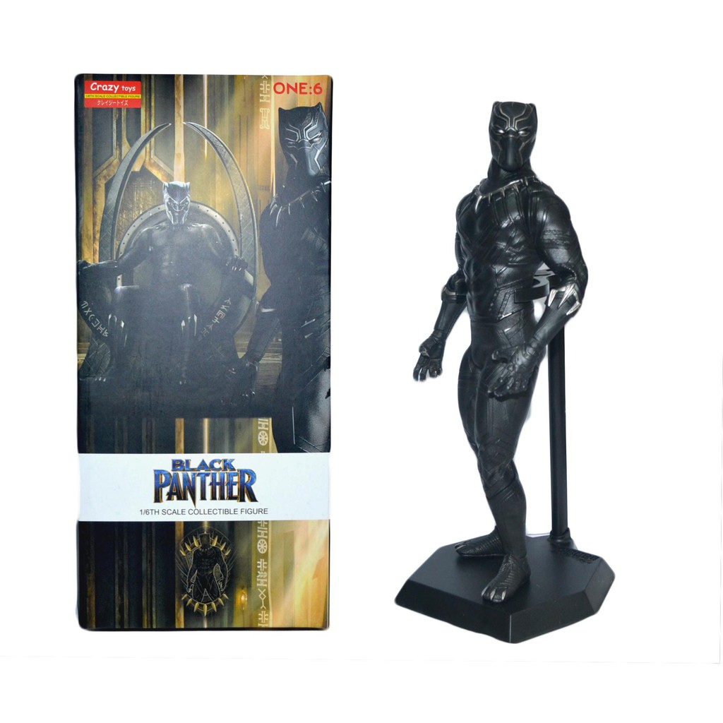 Crazy Toys 1//6 Black Panther PVC Statue New