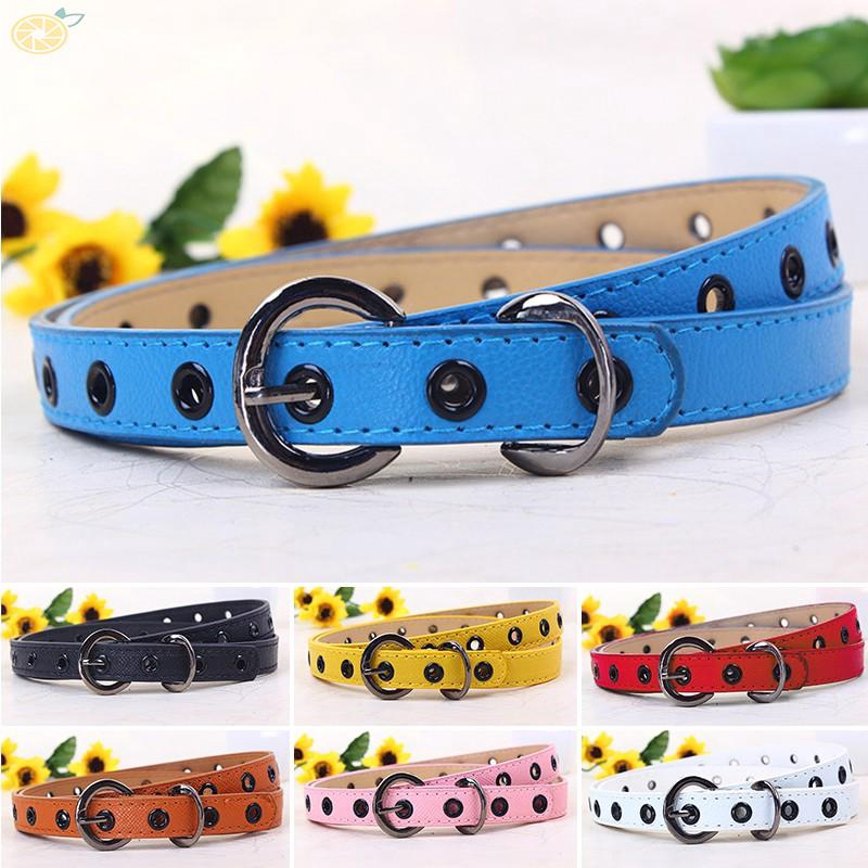 Baby Kids Boys Girls PU Leather Waist Belt Waistband Buckle Adjustable Fashion