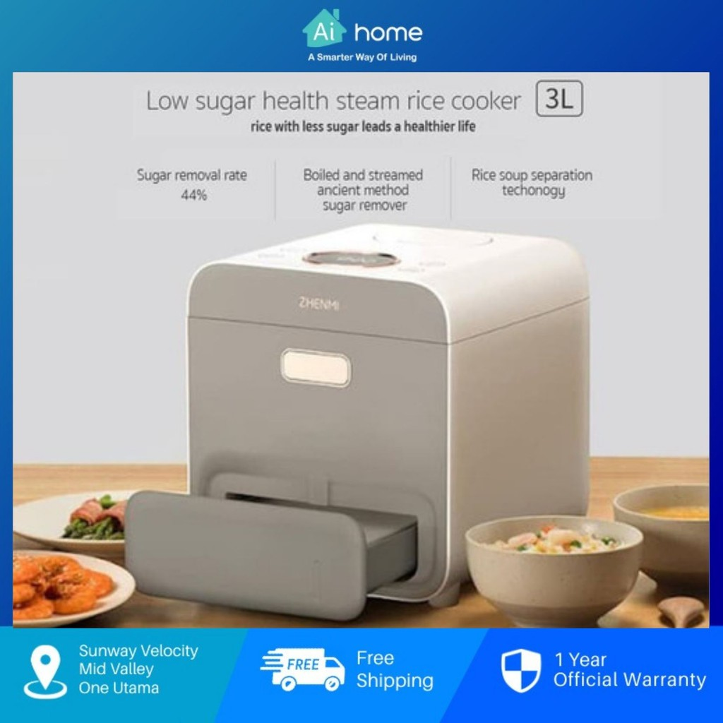 Zhenmi Desalted Steamer Health Mini Rice Cooker Pot X2 - Electric Pressure | Rice Soup Separation Technology [ Aihome ]