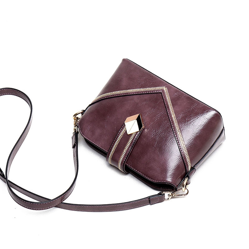 0b8732e556d3 Women's Bag 2019 new fashion Shoulder bag Small Ck oil wax leather  Messenger bag