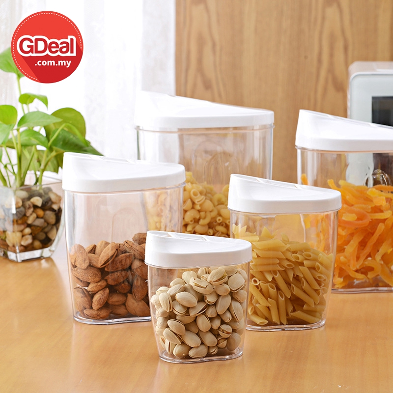 GDeal Transparent Kitchen 5pcs Airtight Dried Storage Container Fresh Keeping Food Bekas Makanan بكس ماكنن
