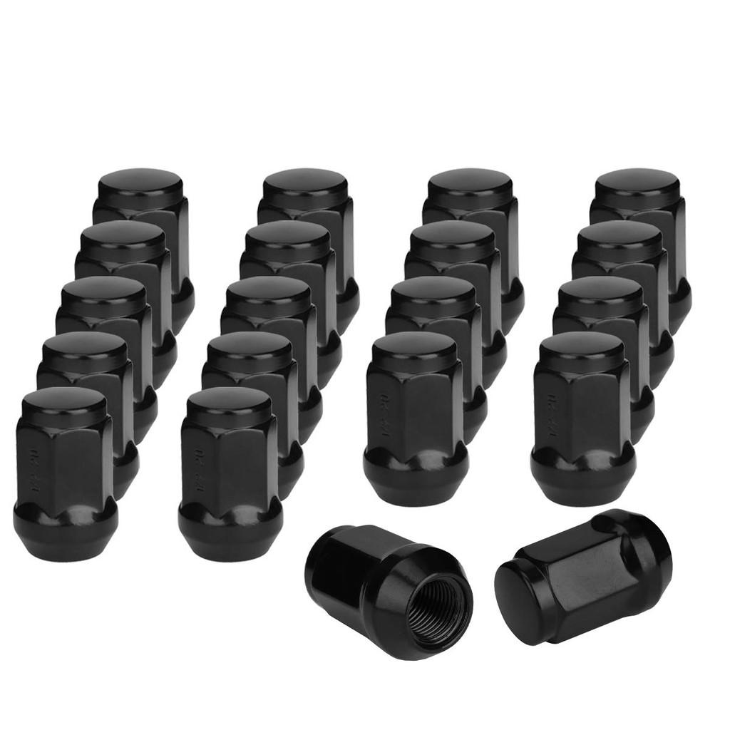 20 New Black Bulge Acorn Lugs 1//2-20 Wheel Nut 19mm Hex
