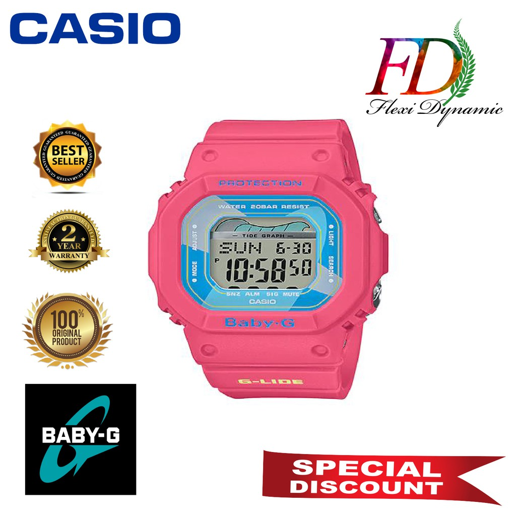 Original BLX-560VH-4 Pink Resin Strap Digital Watch/Band Men Sports Watch Casio G-Shock