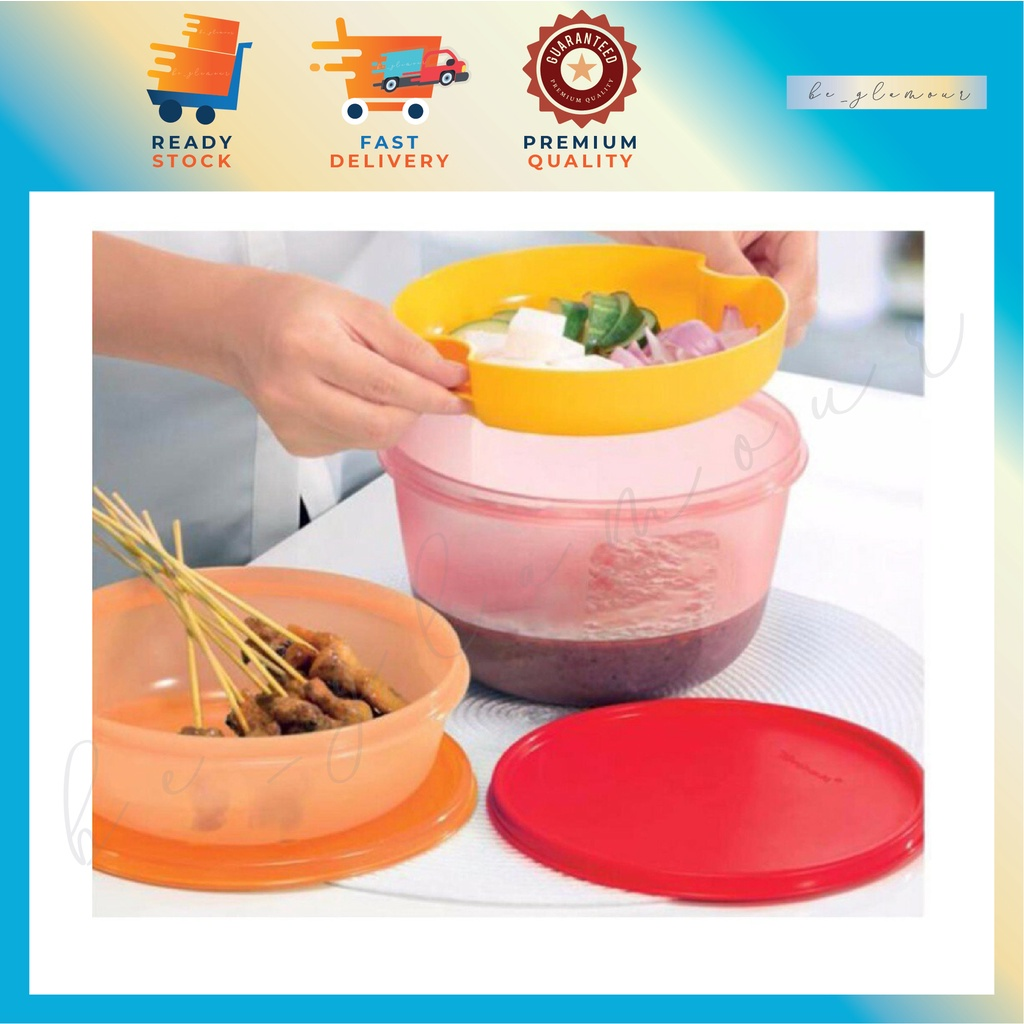 👉Tupperware Take Away Set 1L 2L with Strainer / Food Storage / Food Bowl 💥⚡️READY STOCK⚡️