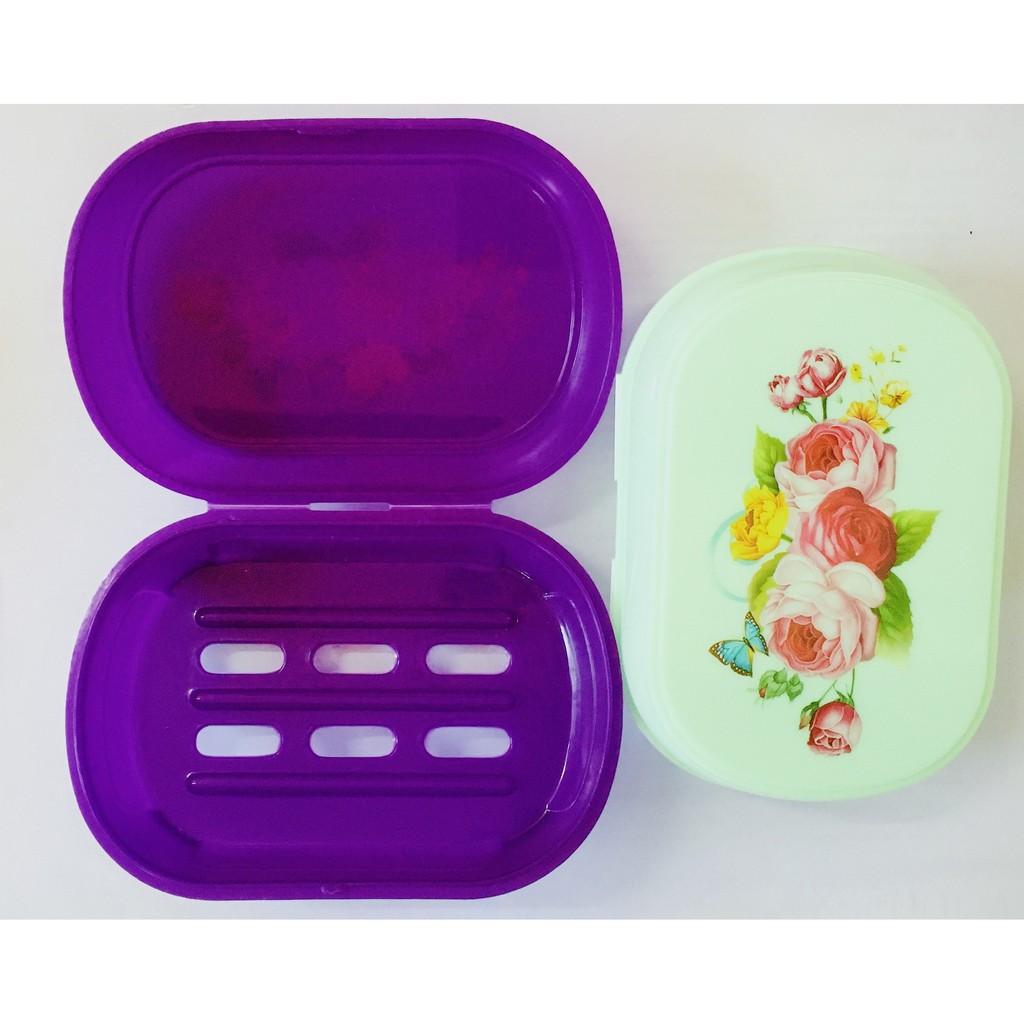 Plastic Soap Box Travel Home Essential Soap Box Portable Soap Box Creative Simple Bathroom Put Soap Shelf (11x8x5CM)
