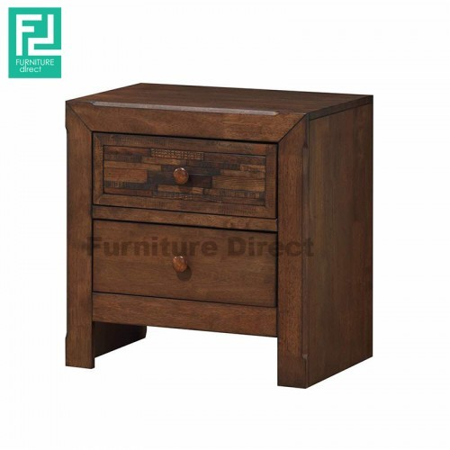 Furniture Direct wooden parquet full solid wood bedside table