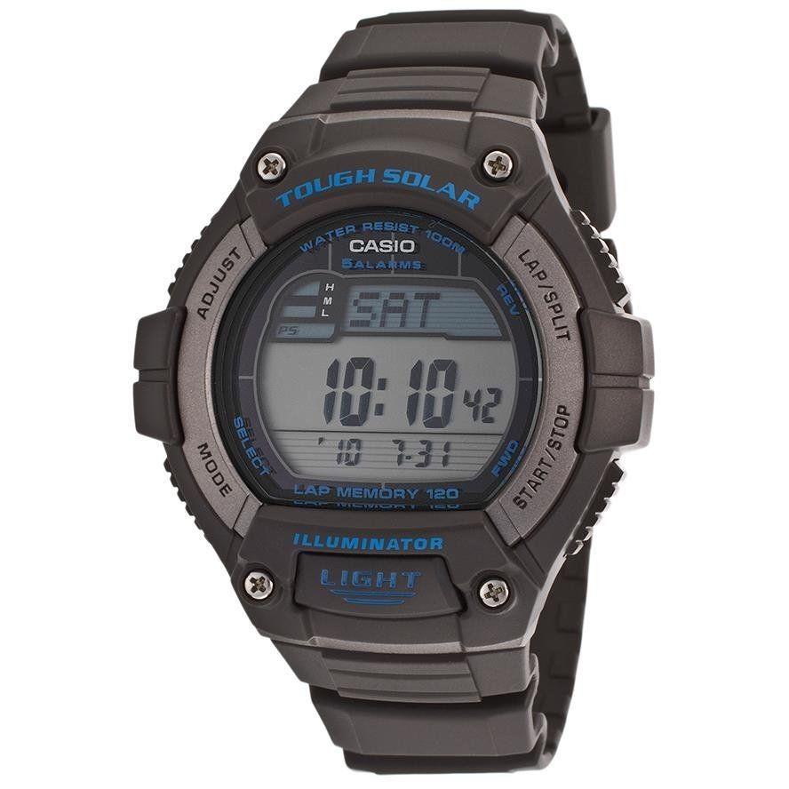 Casio Men\'s Sport WS220-8AV Grey Rubber Quartz Watch with Black Dial