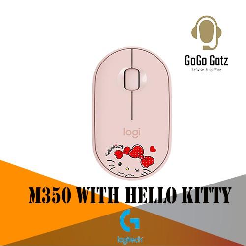 {NS-910-006032 }Logitech Pebble Wireless Mouse M350 Wireless Bluetooth Mouse (Pink-HelloKitty)