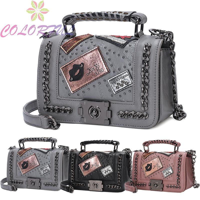 Sufficient Capacity Polyurethane Leather dating bag Tote Bag Makeup bag Shoulder Bags Leather Chain Bag Chain Handbag