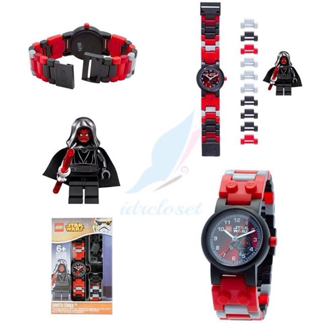 Lego Star Wars Darth Maul Kids Minifigure Interchangeable Links Watch Shopee Malaysia