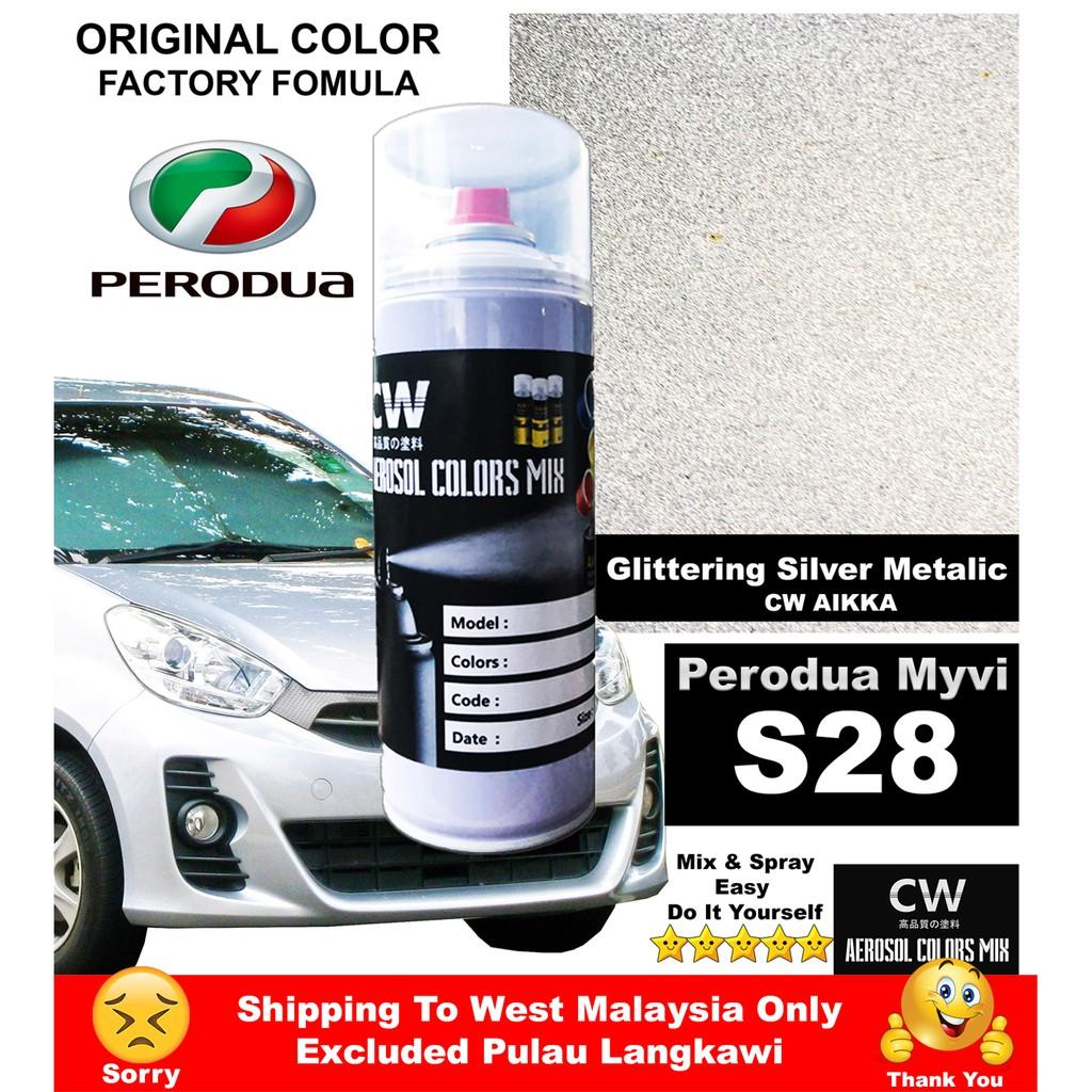 Touch Up Perodua Myvi S28 Silver Cw Spray 370ml Shopee Malaysia