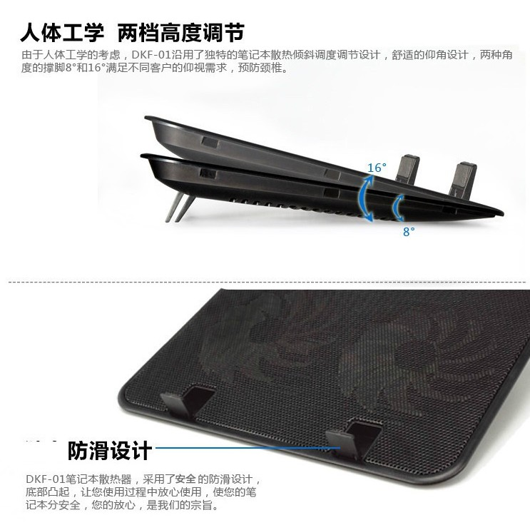 🚛Ready stock Local📦 Portable Ultra-Slim Quiet Notebook Cooler Fan Cooling Pad Stand