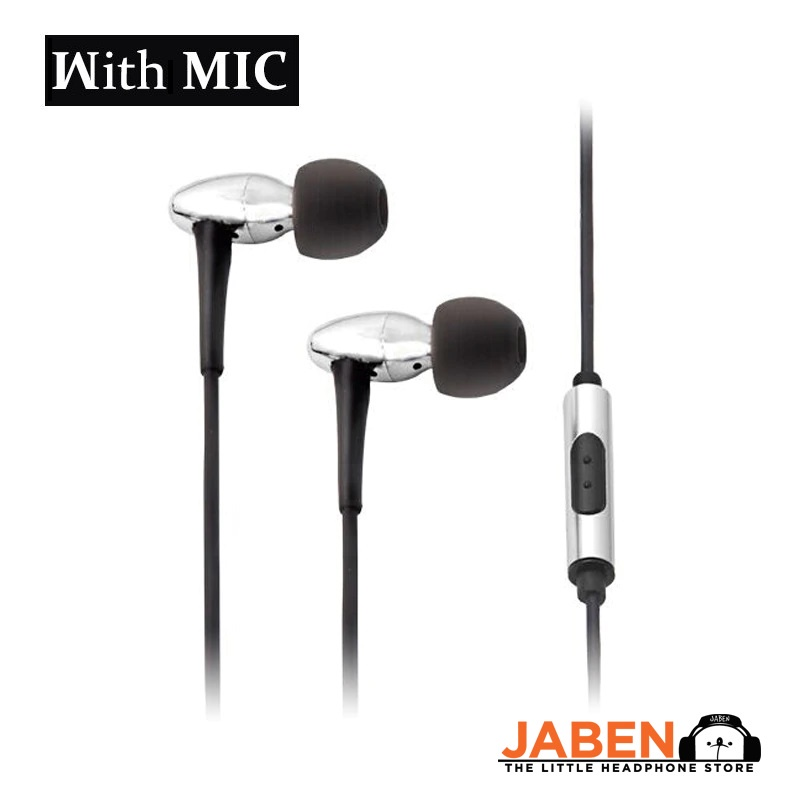 Moondrop Spaceship Hi-Res Brass Housing Litz Wire Cable Single Button Remote Microphone Wired In-Ear Earphones [Jaben]