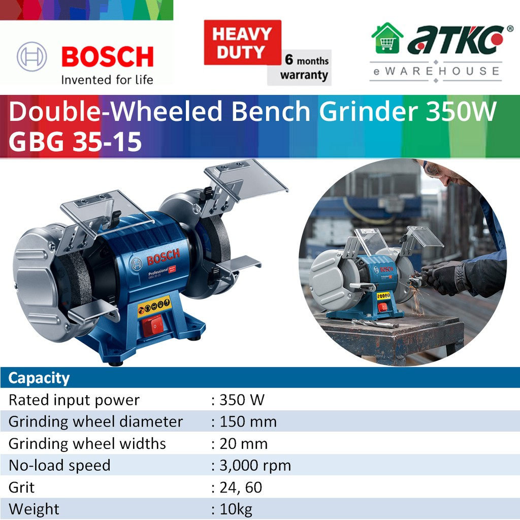 BOSCH GBG 35-15 Double-Wheeled Bench Grinder Professional 350W (060127A3L0)