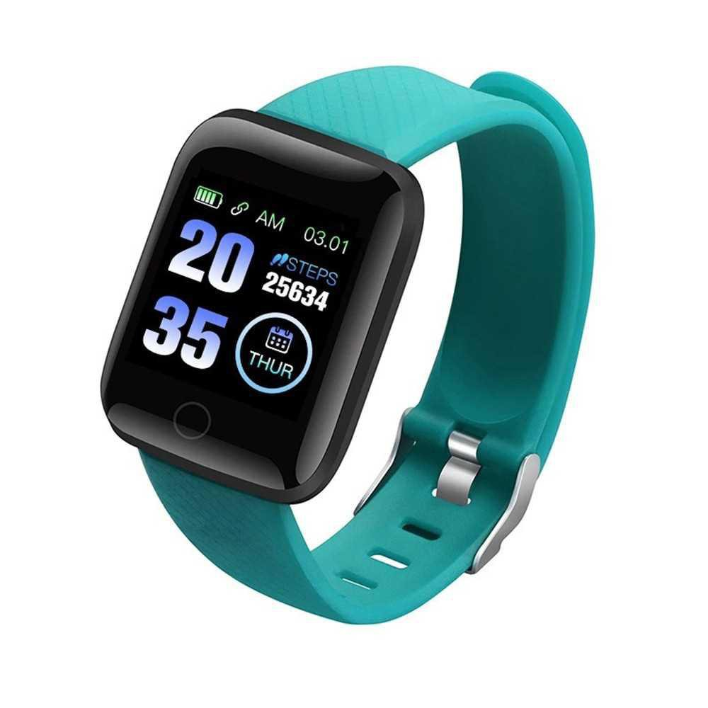 Smart Bracelet Sports Watch 1.3-Inch TFT Screen BT4.0 Fitness Tracker IP67 Waterproof Pedometer Sports Reminder (Green)