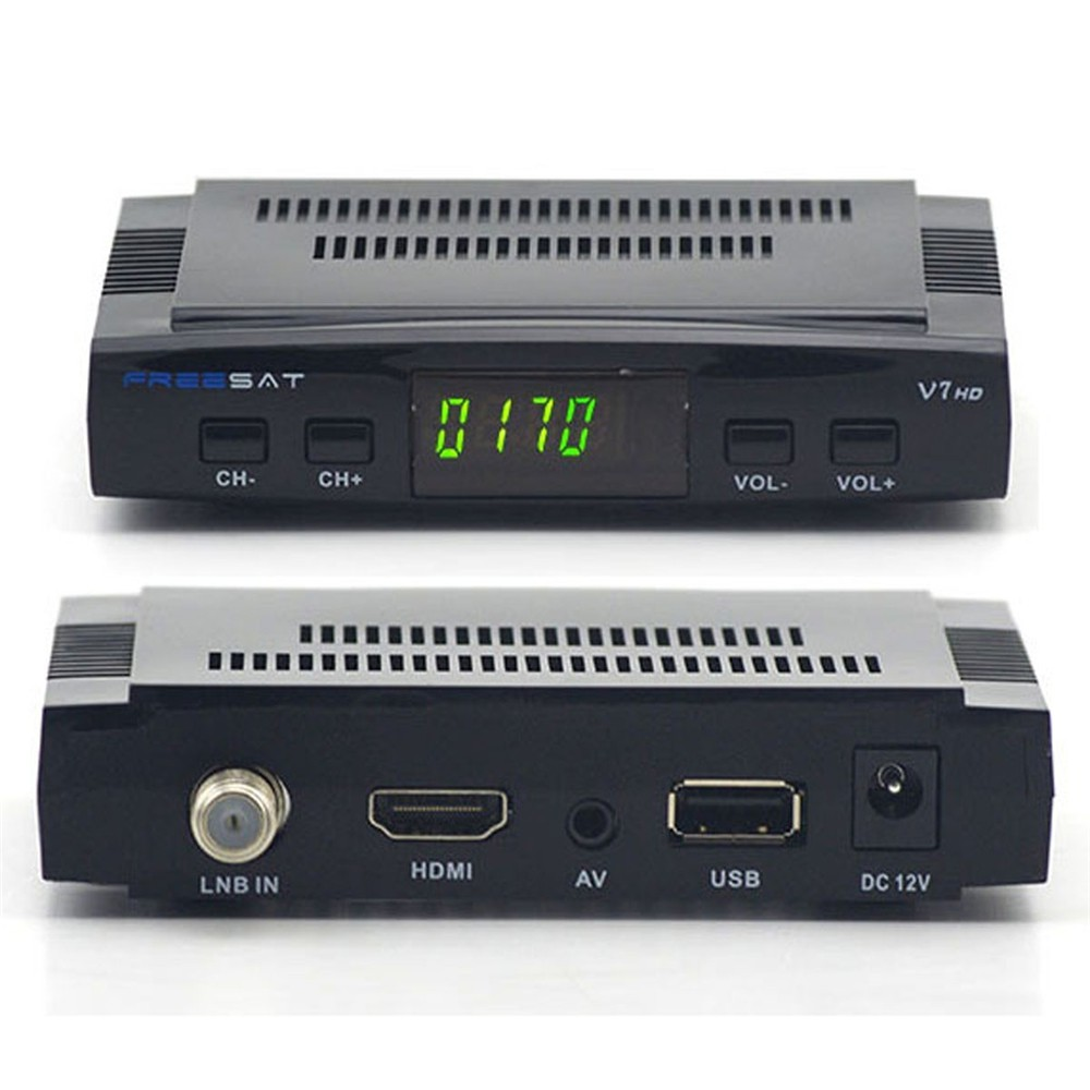 Freesat V7S DVB-S2 Satellite TV Receiver FTA Full HD 1080P USB WIFI Support