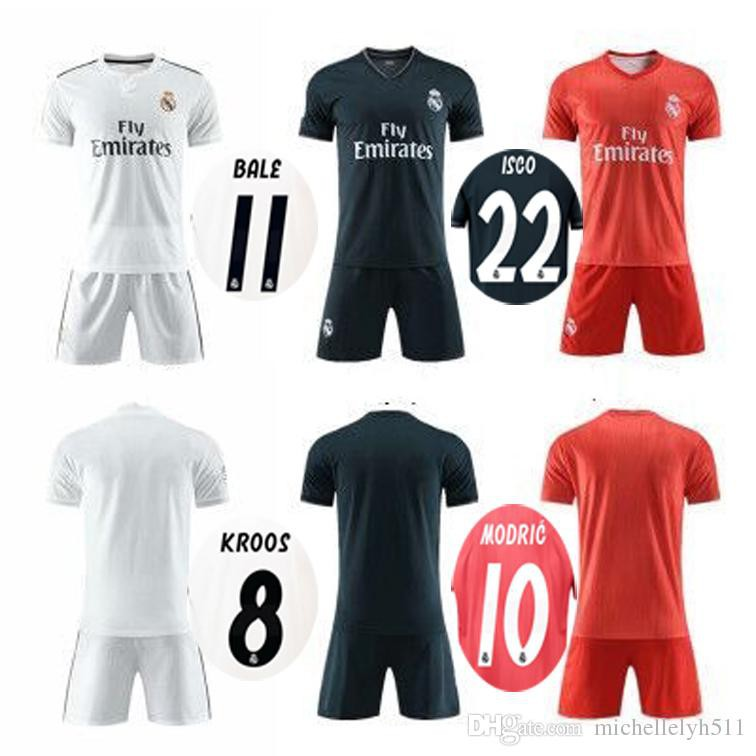 67bbd4e1 ProductImage. ProductImage. 18 19 Real Madrid soccer set RONALDO player's football  kit sports uniform jersey