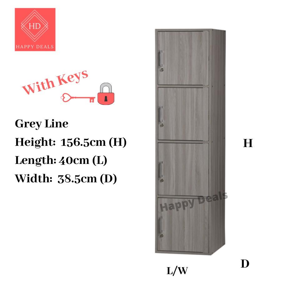 DIY 4 Tier Office Cabinet with Locks / Locker Storage Cabinet / Rak Buku Berkunci /Buku Cabinet Berkunci SU 400FL SU 400