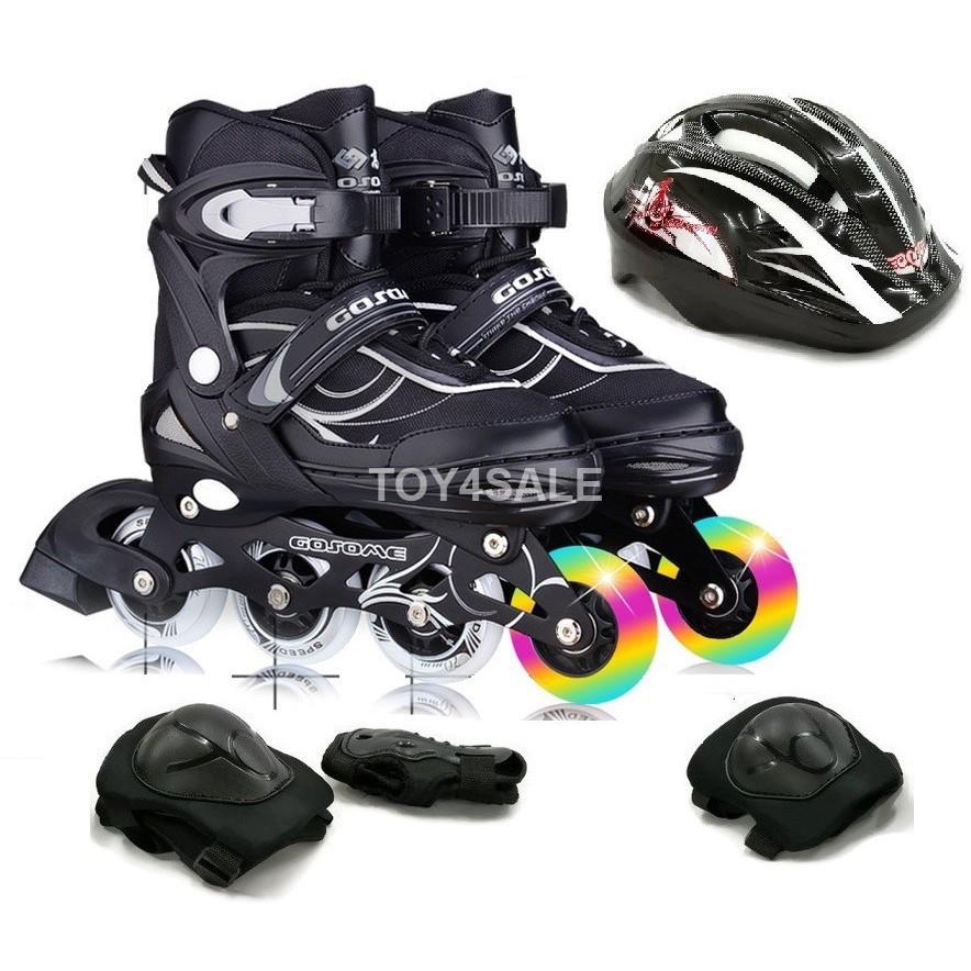 Rollerblade Inline Skate Gosome + All PU Wheels Adjustable Shoe Size Kasut  Roda  f58b0ba16a