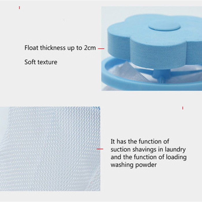 2 PCS Washing Machine Lint Laundry Filter Bag Floating Lint Hair Remover Mesh Pouch