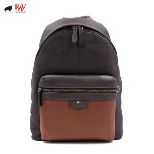 Rav Design Leather Casual Bag Backpack Anti-RFID Blocking RVC438G3
