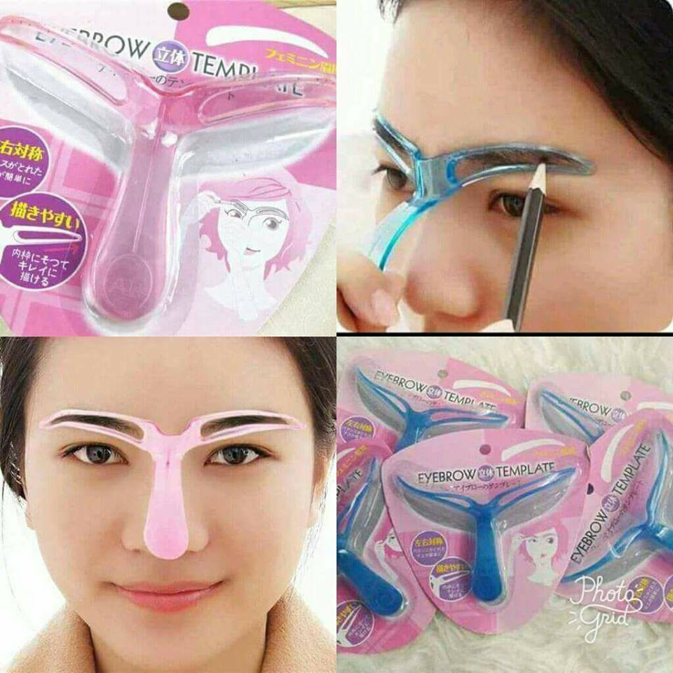 Eyebrow Stencil Draw Guide Styling Shaping Grooming Template Card Easy Makeup Shopee Malaysia