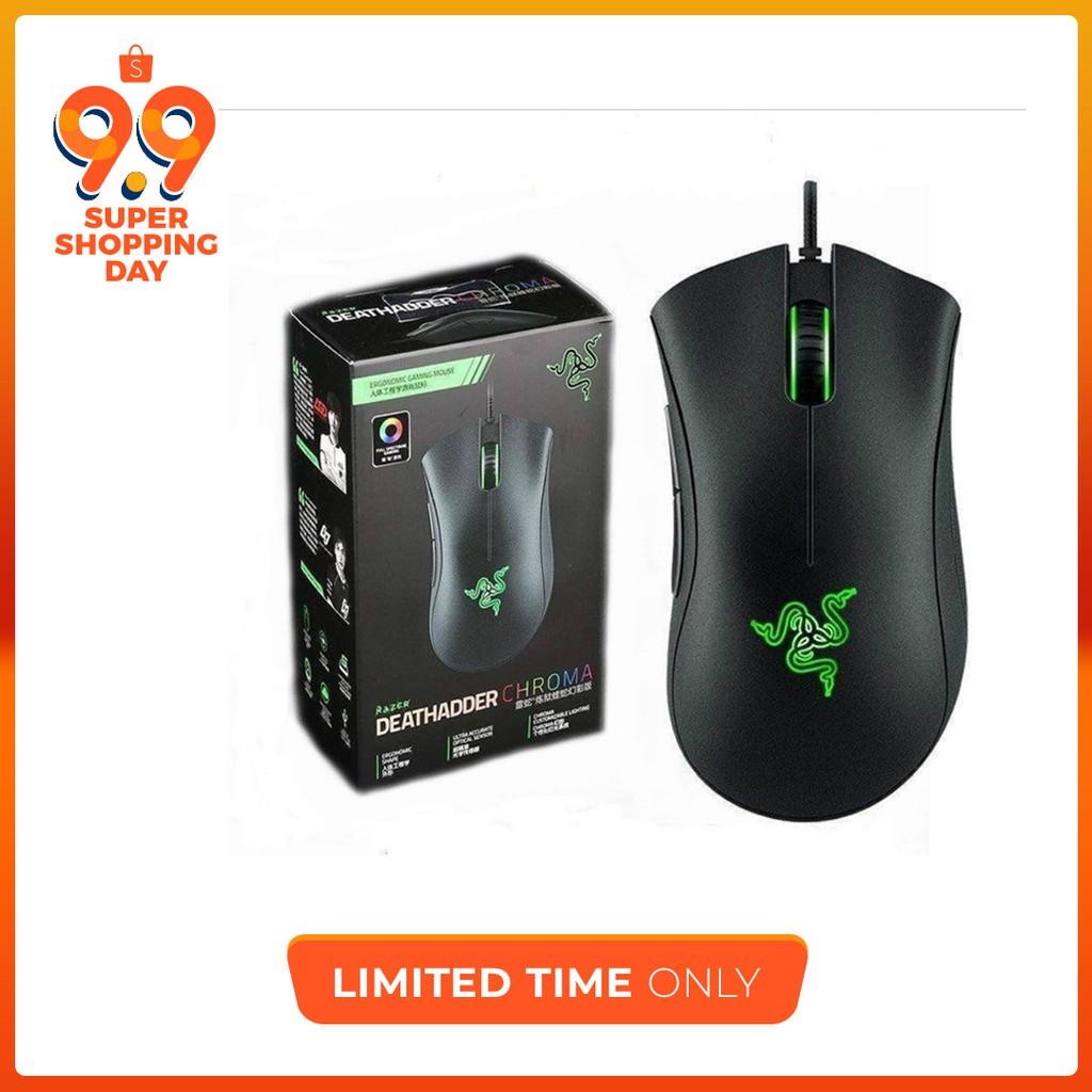 Razer Gaming Mouse Deathadder Chroma 3500dpi Usb Wired Taipan White Edition Rz01 00780500 R3a1 Shopee Malaysia