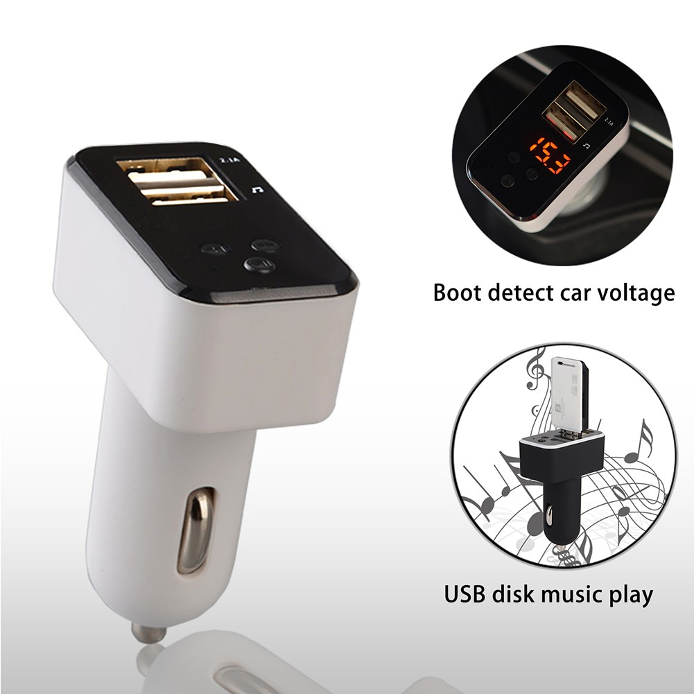 Bg Bluetooth Fm Transmitter Mp3 Stereo 5v 34a Dual Usb Ports Car Bt20 Charger Wma Audio Hands Free Call Support Tf Card Music Pl Shopee Malaysia