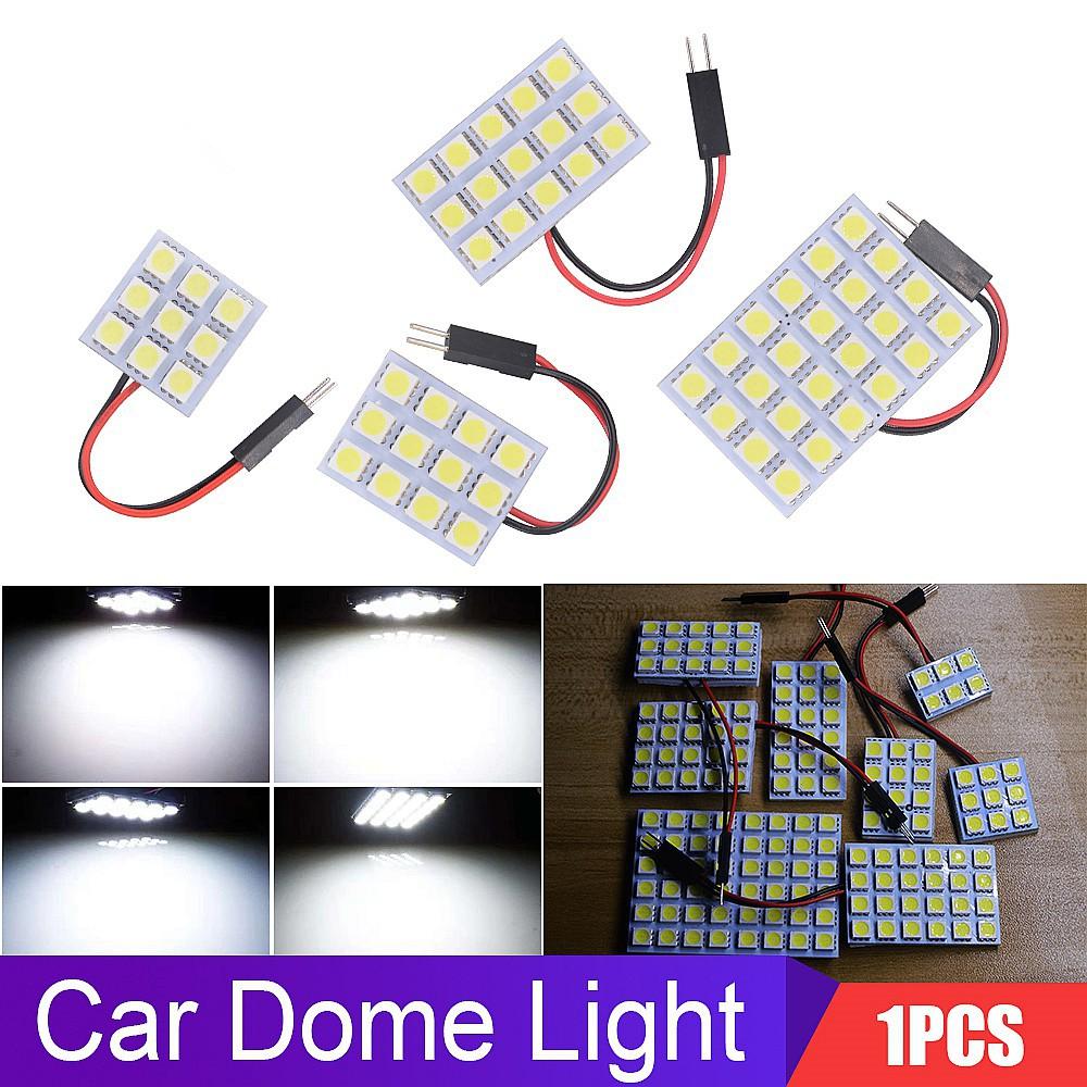 Dome Adapter Pure White 5050SMD 48LED Car Interior LED Light Lamp Panel T10 12V