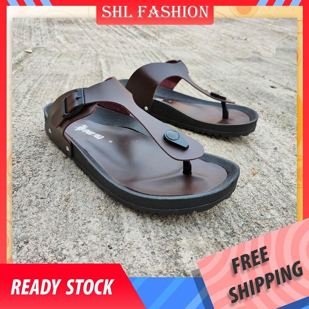 SHL Men Sandal Sandal Lelaki Flip Flops Slippers 【男士拖鞋】968