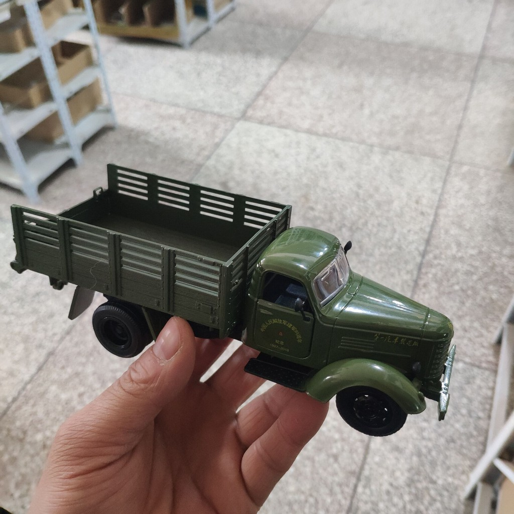 1:32 1//32 Army Green Jiefang Military Truck Diecast Truck Model With Light Sound