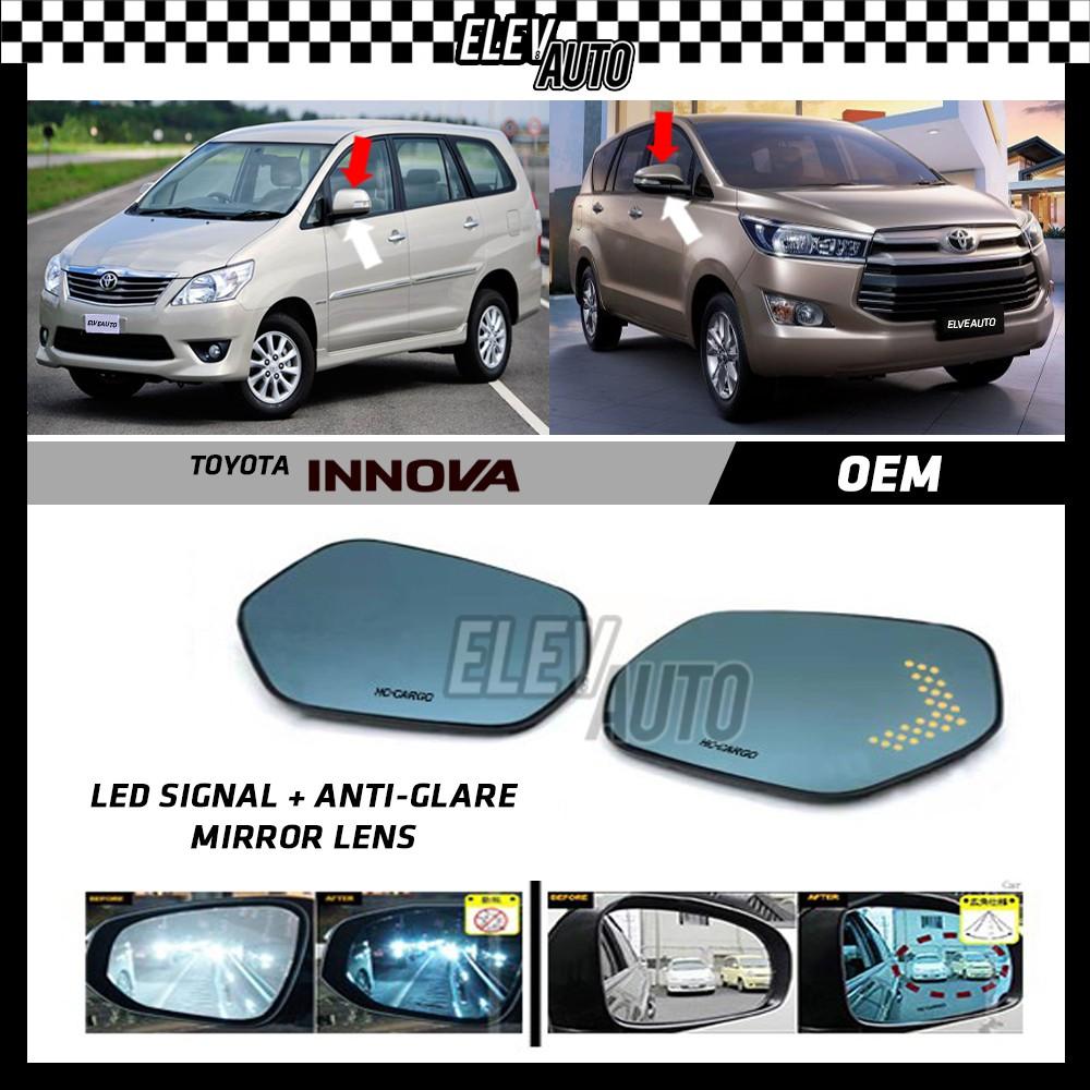 Toyota Innova LED Signal with Anti Glare Side Mirror Lens
