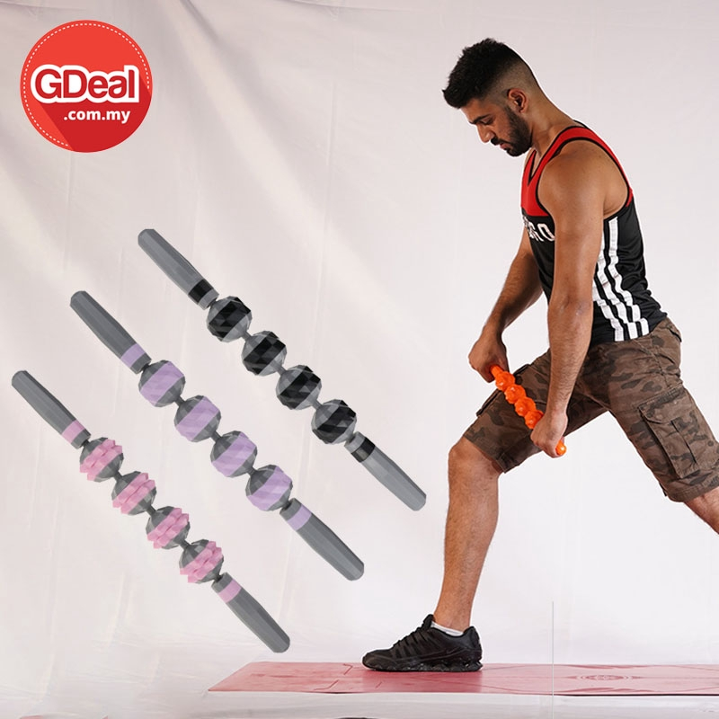 GDeal M5 Multi-faceted Yoga Fitness Supplies Gear Massage Stick Muscle Massage Stick Relax Yoga Waist Roller